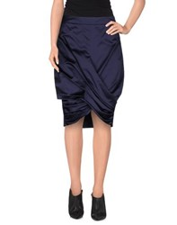 Burberry London Skirts Knee Length Skirts Women Dark Blue