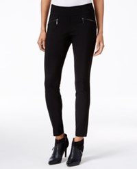 Bar Iii Zip Pocket Pull On Skinny Pants Only At Macy's Black
