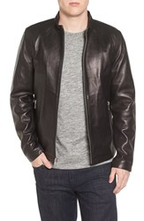 Black Rivet Men's Lambskin Leather Moto Jacket