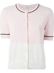Carven Panelled Cardigan Pink And Purple
