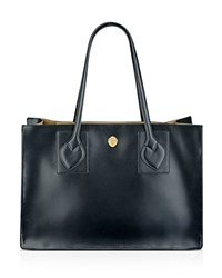 Anne Klein Large Amelia East West Tote Black Camel