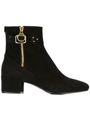Twin Set Gold Tone Hardware Ankle Boots Black