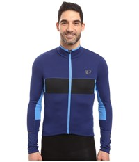 Pearl Izumi Elite Escape Thermal Long Sleeve Jersey Blue Depths Black Men's Clothing Gray