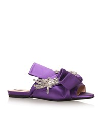 N 21 No. 21 Satin Bow Flower Slippers Female Purple