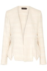 Hatch Tabitha Cotton Blend Tweed Blazer Cream