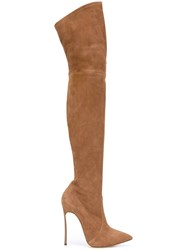 Casadei Thigh Length High Boots Brown