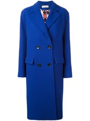 Emilio Pucci Double Breasted Coat Blue
