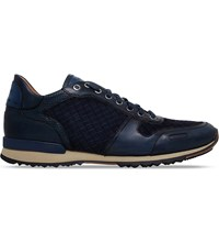 Magnanni Ebdy Woven Leather Runner Trainers Blue