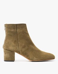 Atp Atelier Mei Boot In Olive Suede