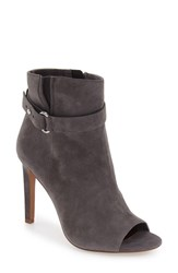 Bcbgeneration Women's 'Carolena' Peep Toe Bootie Steel Suede
