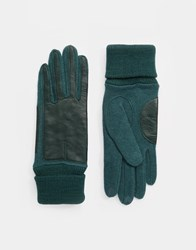 Esprit Nappa Leather Gloves Tealblue