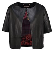 Ted Baker Losimia Leather Jacket Black