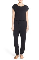 Women's Caslon Knit Blouson Jumpsuit Black