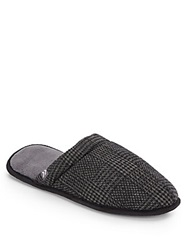 Isotoner Plaid Clog Slippers Charcoal
