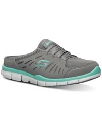 Skechers Women's No Limits Memory Foam Casual Sneakers From Finish Line Grey Mint