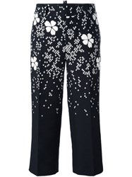 Dsquared2 Floral Blossom Cropped Trousers Black