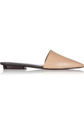 Narciso Rodriguez Athena Leather Point Toe Flats