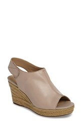 Geox Women's 'Soleil' Slingback Wedge Sandal Cream Leather