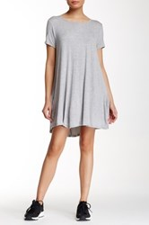 Peach Love California Short Sleeve Jersey Dress Gray