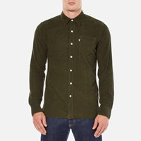 Levi's Men's Sunset 1 Pocket Shirt Olive Night Melange