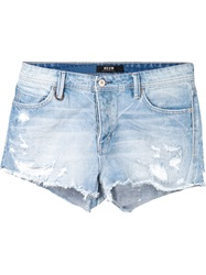 Neuw Distressed Denim Shorts Blue