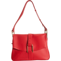 Delvaux Givry Shoulder Bag Red