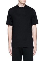 Alexander Wang High Crew Neck Cotton Jersey T Shirt Black