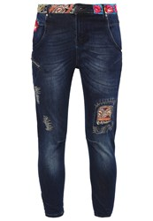 Desigual Petra Relaxed Fit Jeans Denim Dark Blue Dark Blue Denim