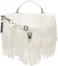 Proenza Schouler White Ps1 Fringe Medium Satchel