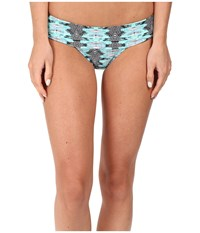 Volcom Heat Waves Modest Bottoms Black Women's Swimwear