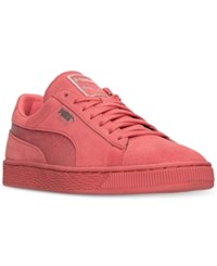 Puma Men's Suede Classic Mono Reptile Casual Sneakers From Finish Line Porcelain Rose Puma Silve