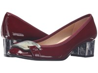 French Sole Royal Patent Wine Patent Women's Shoes Burgundy