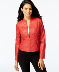 Alfani Petite Faux Leather Motorcycle Jacket Only At Macy's