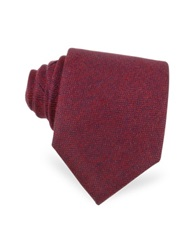 Forzieri Red And Blue Textured Cashmere Tie