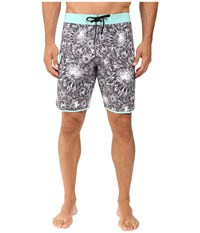 Vissla Los Flores Washed 4 Way Stretch Boardshorts 20 Black Men's Swimwear