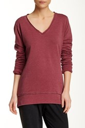 Central Park West The Wren Long Sleeve Tee Red