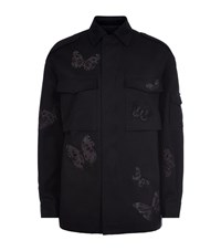 Valentino Embroidered Butterfly Field Jacket Female Black