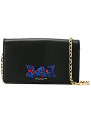 Marc Jacobs 'Bow' Crossbody Chain Wallet Black