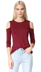 Bailey 44 Cold Shoulder Top Burgundy
