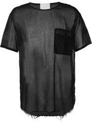 Lost And Found Chest Pocket T Shirt Black
