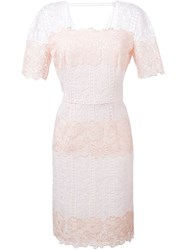 Blumarine Guipure Lace Dress Pink And Purple