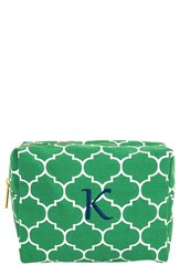 Cathy's Concepts Monogram Cosmetics Case Green K