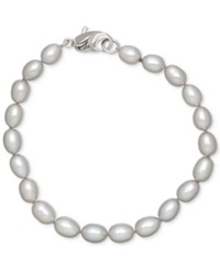Honora Style Grey Cultured Freshwater Pearl Bracelet In Sterling Silver 7 8Mm