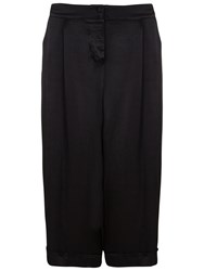 Ghost Ondine Wide Leg Cropped Trousers Black