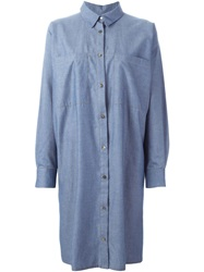 Reality Studio 'Olof' Shirt Dress Blue