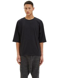 Y 3 Logo Graphic Crew Neck T Shirt Black