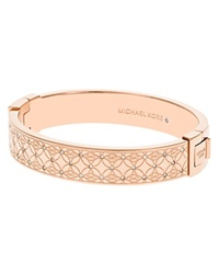 Michael Kors Pave Monogram Hinge Bangle