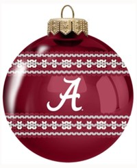 Memory Company Alabama Crimson Tide Ugly Sweater Ball Ornament Red