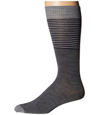 Smartwool Tailored Stripe Crew Medium Gray Men's Crew Cut Socks Shoes White