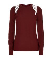 Antonio Berardi Lace Up Shoulder Top Female